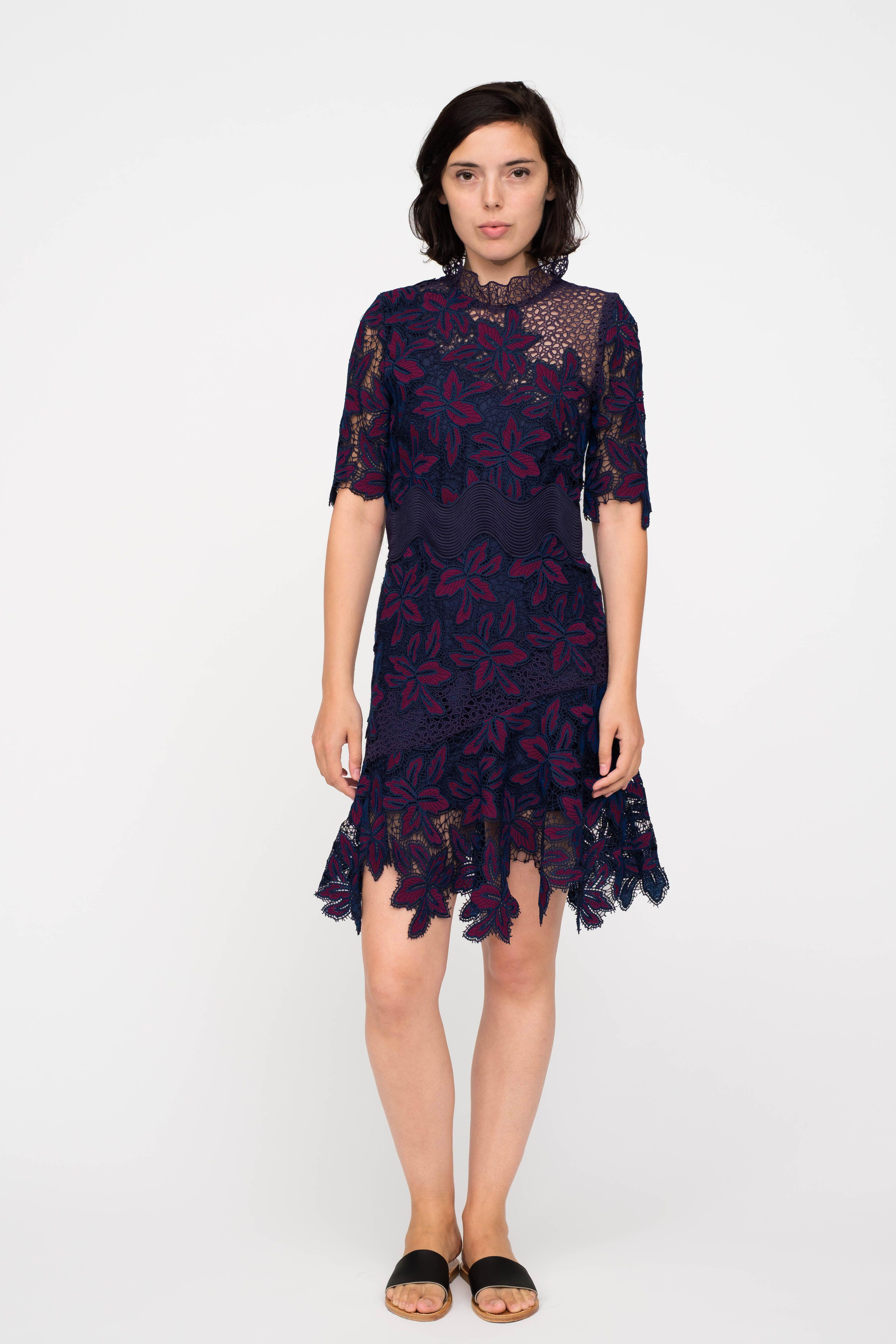 244f9540302 Lyst - Sea Mosaic Lace Dress in Blue