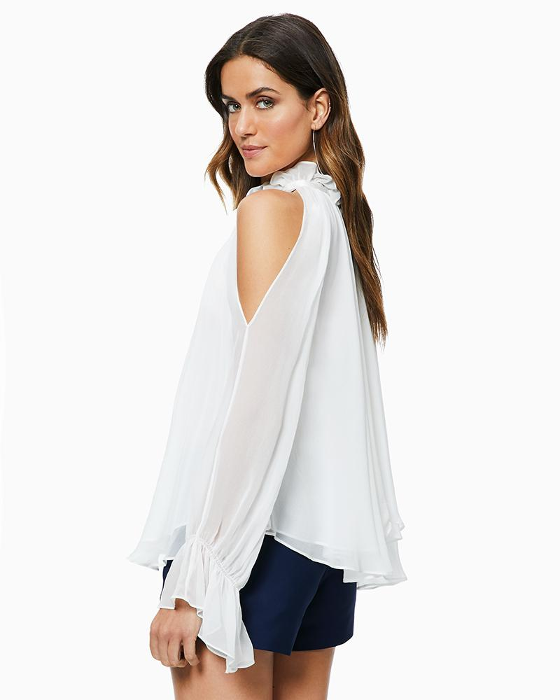e8ee98a8ffc Ramy Brook Blaine Top in White - Lyst