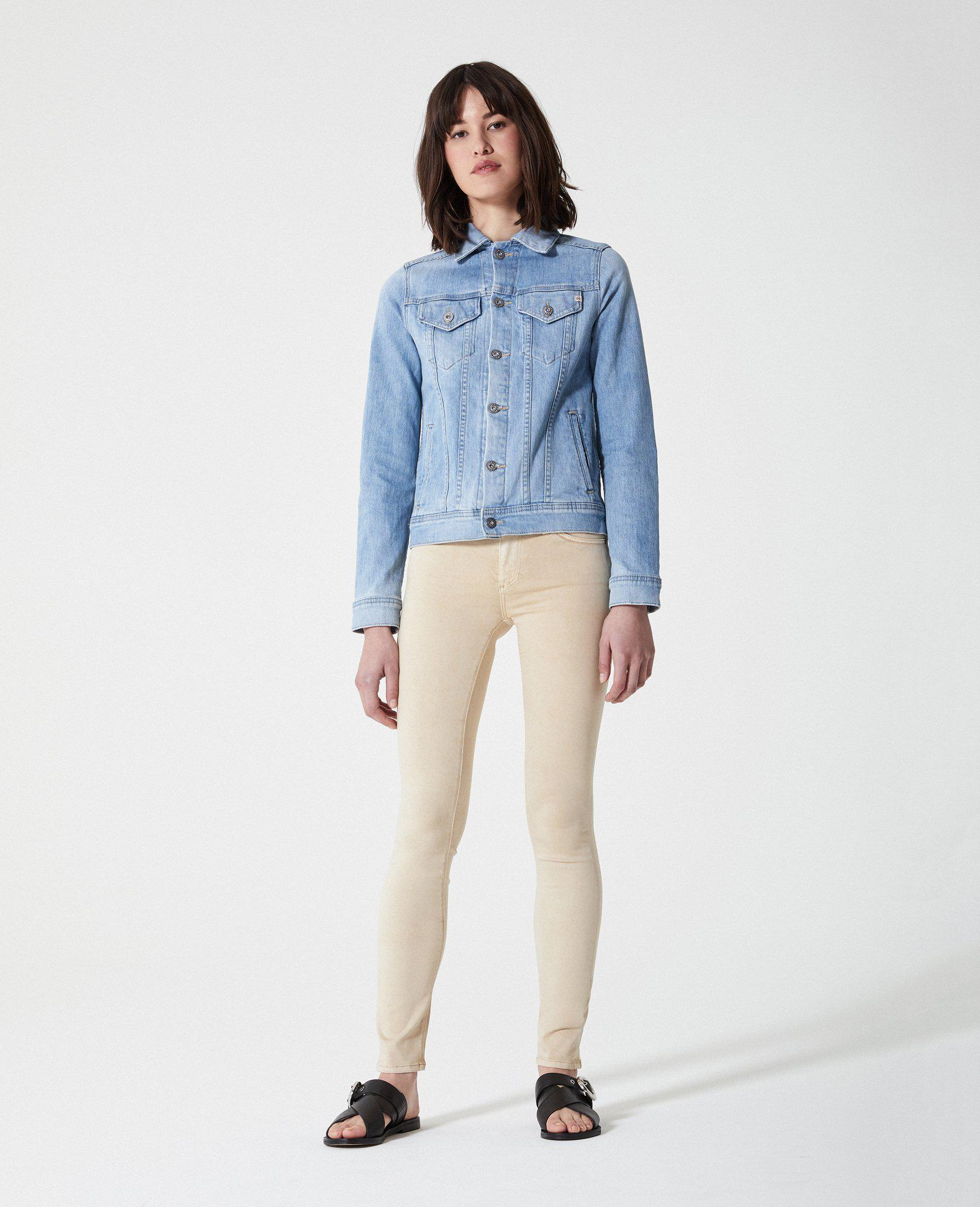 7c3dc764014cfd AG Jeans The Prima - Sulfur Sand Dune in Blue - Lyst