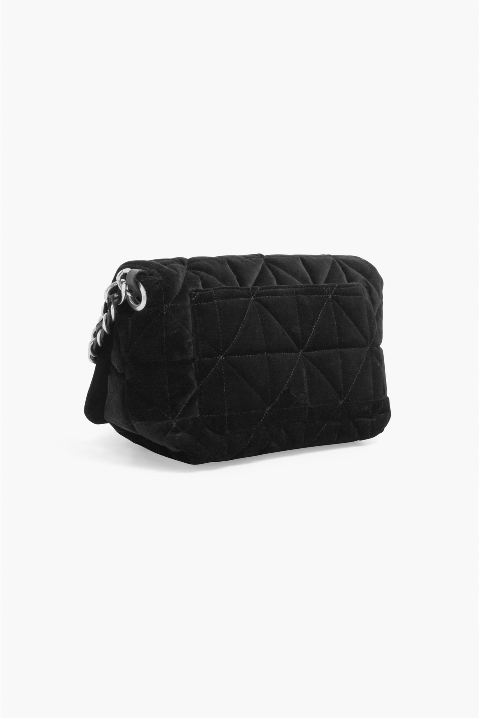 4690438383b Sonia Rykiel Le Copain Large Velvet Bag in Black - Lyst