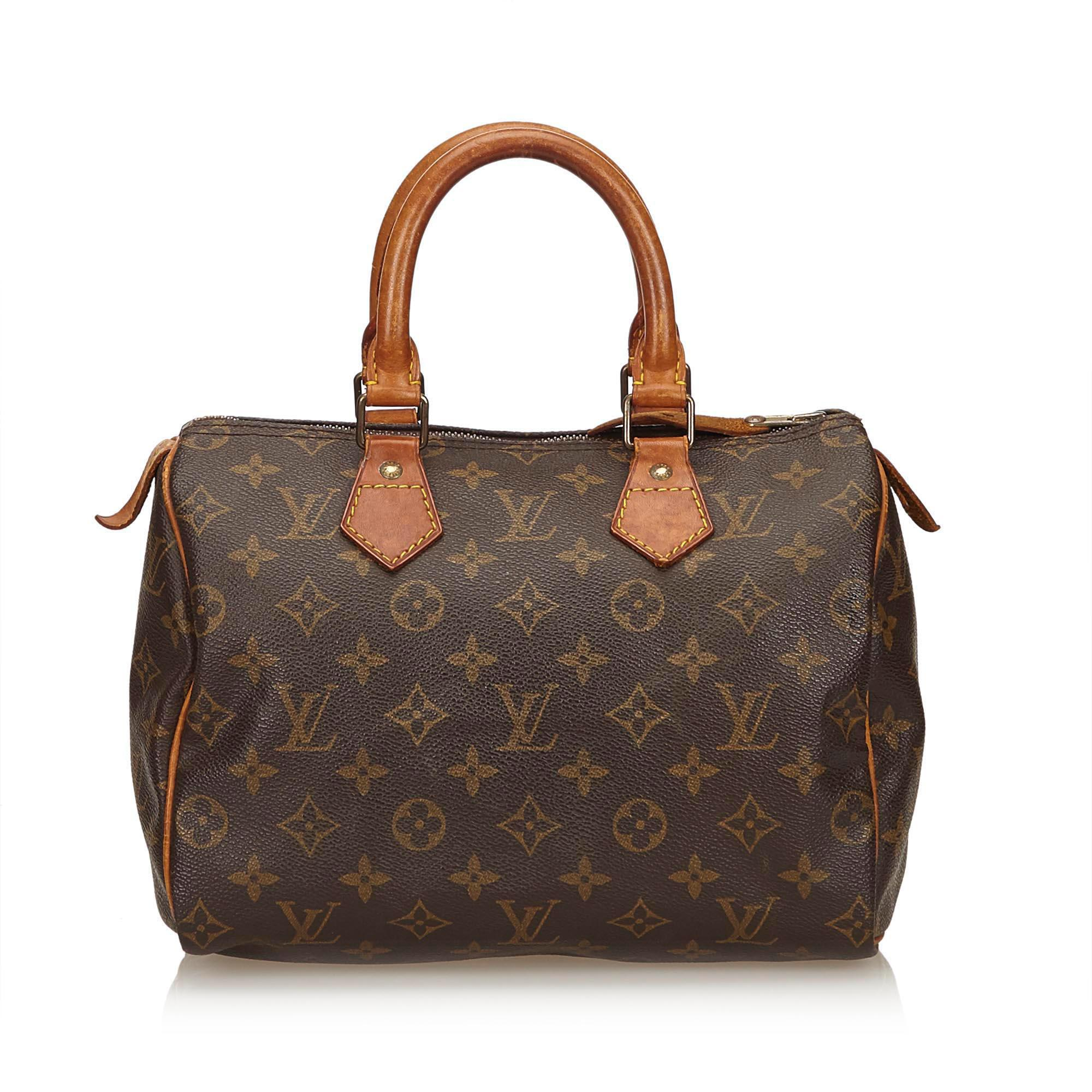 394a8e8e3e14 Lyst - Louis Vuitton Monogram Speedy 25 in Brown - Save ...
