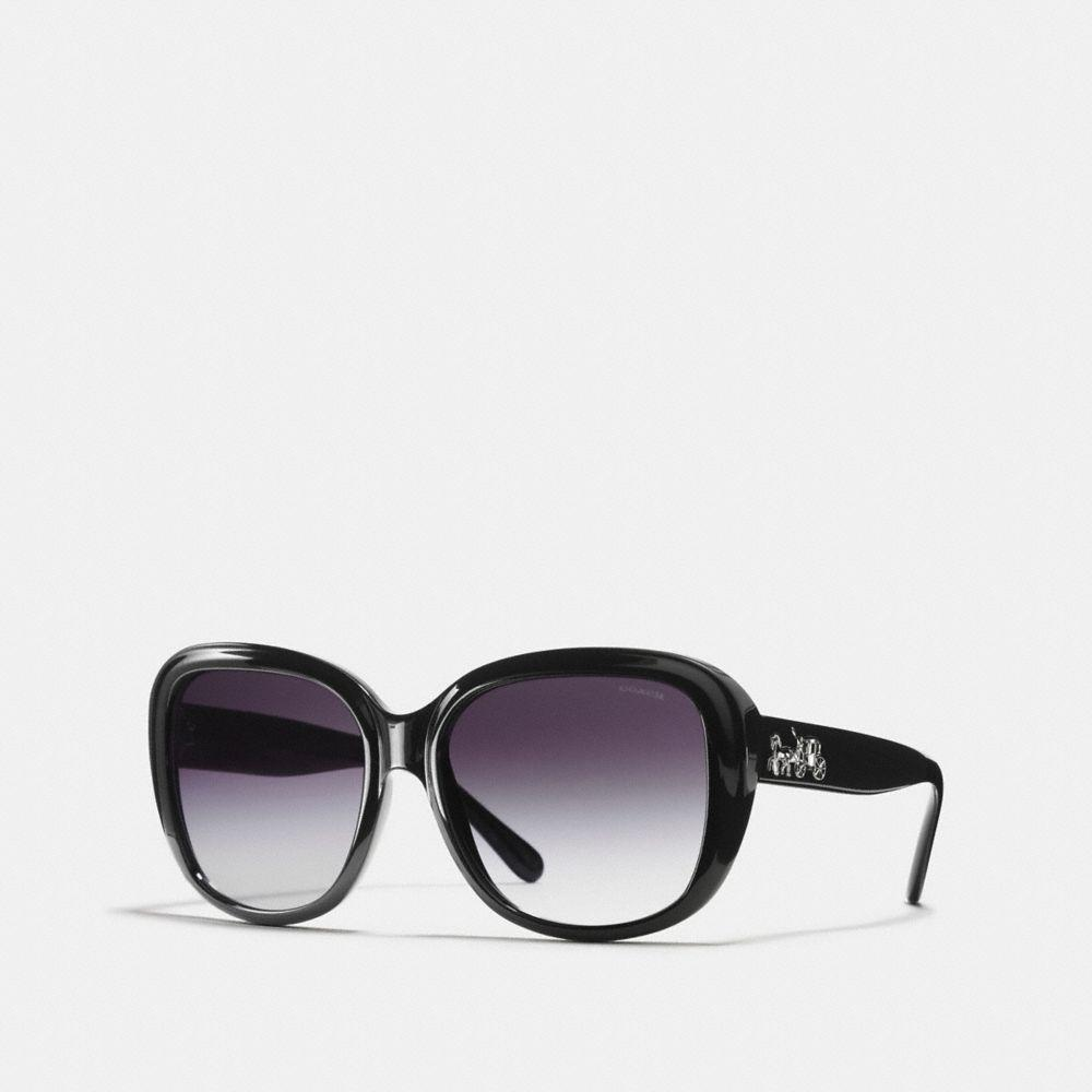 6fff91685083d Lyst - COACH Horse And Carriage Soft Square Sunglasses in Black ...