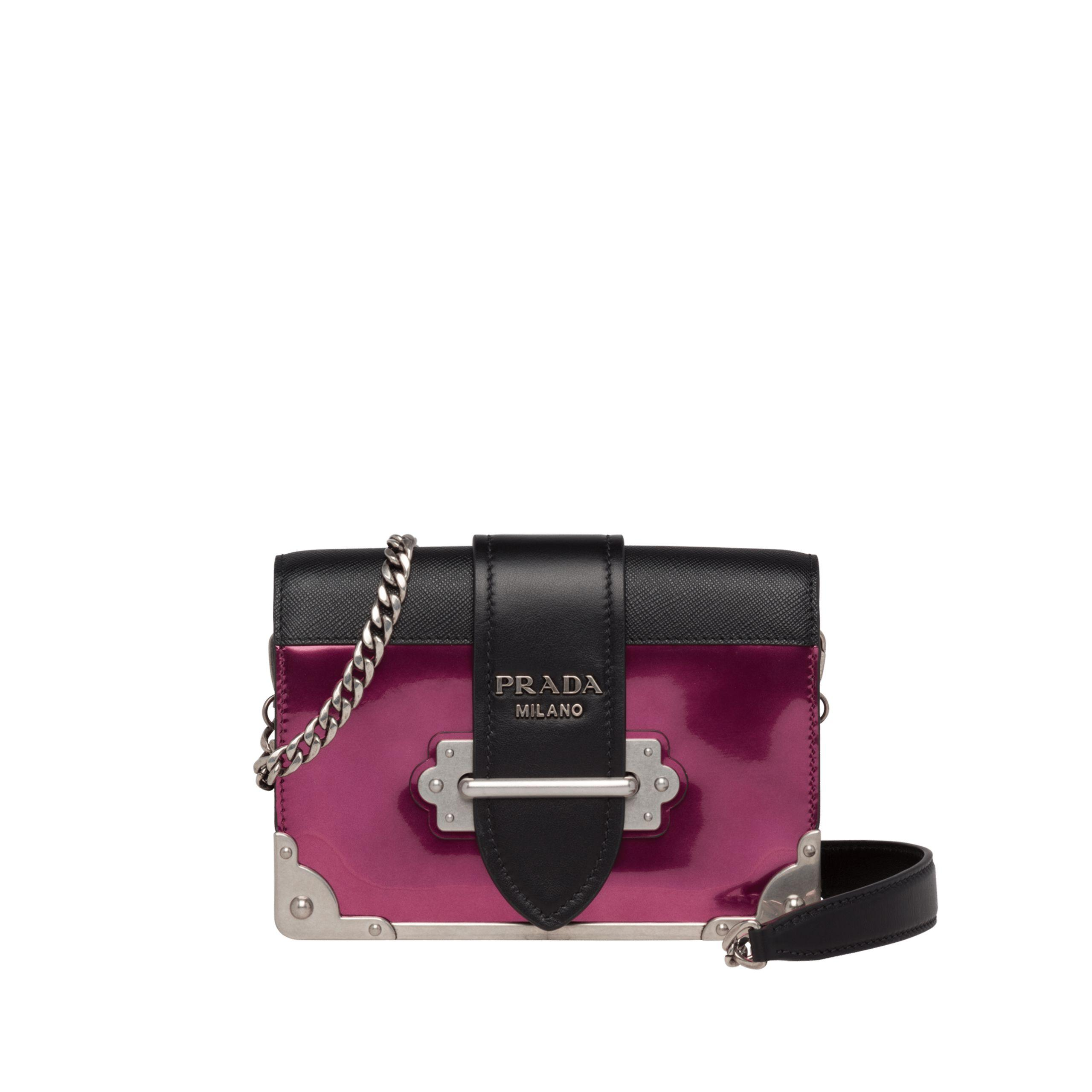b26b1f9cb101 Prada. Women's Cahier Leather Shoulder Bag