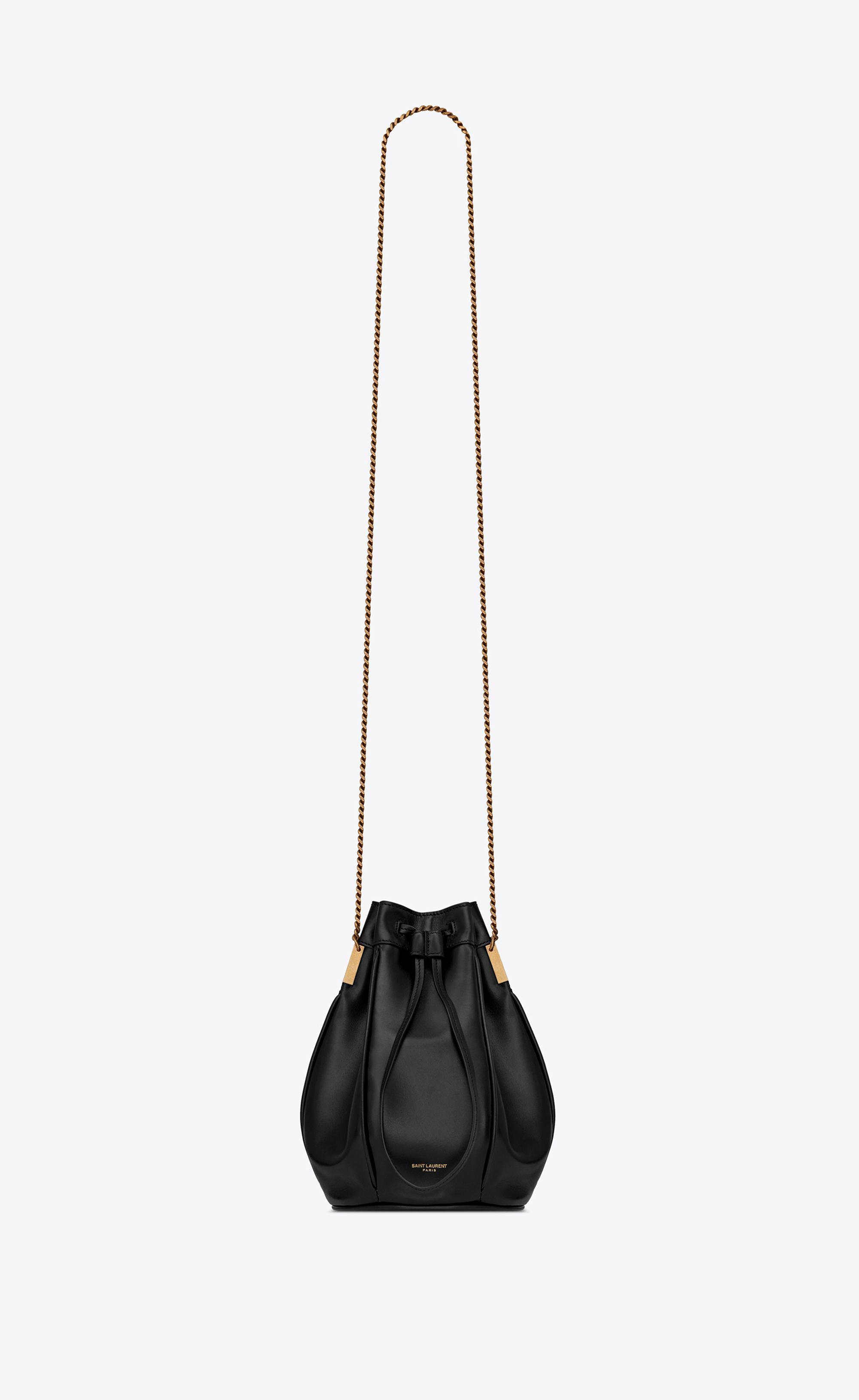 Lyst - Saint Laurent Talitha Small Bucket Bag in Black 0e4e2cc2591a3