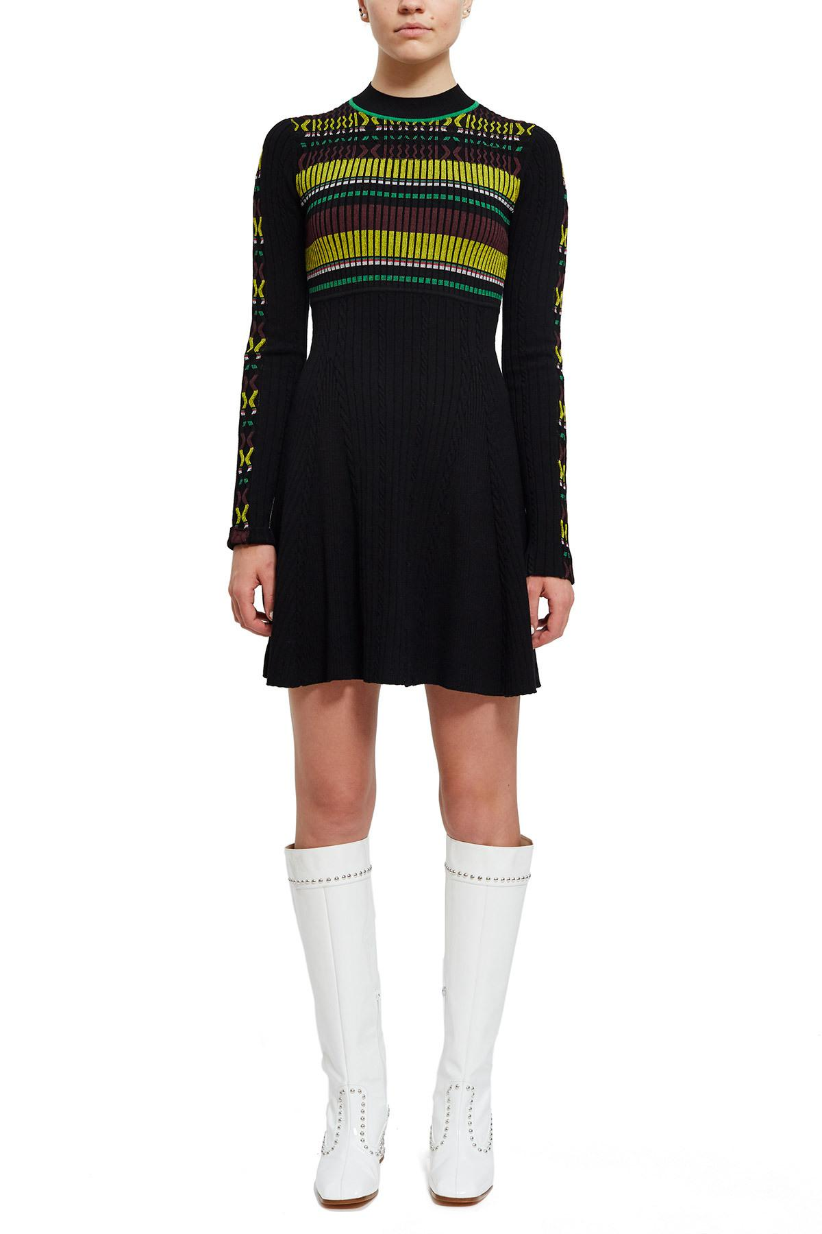 bbfcdcc837c5 Opening Ceremony Rib Stripe Flare Dress in Black - Save 70% - Lyst