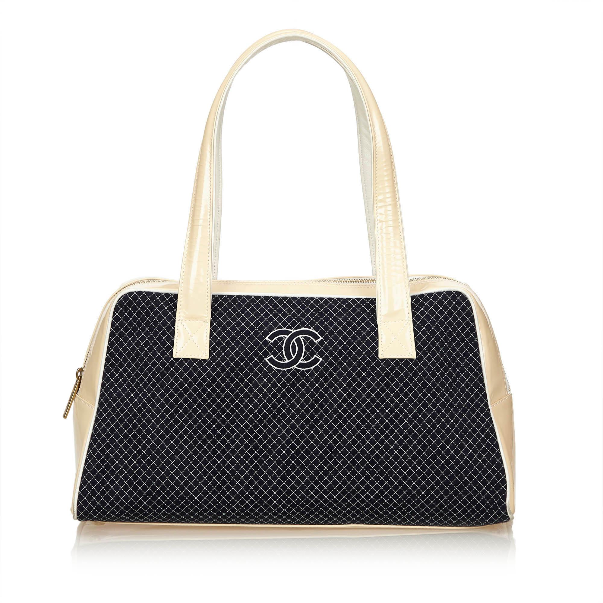 3fce828fdc23 Chanel. Women's Blue Cotton Shoulder Bag. $896 From Orchard Mile