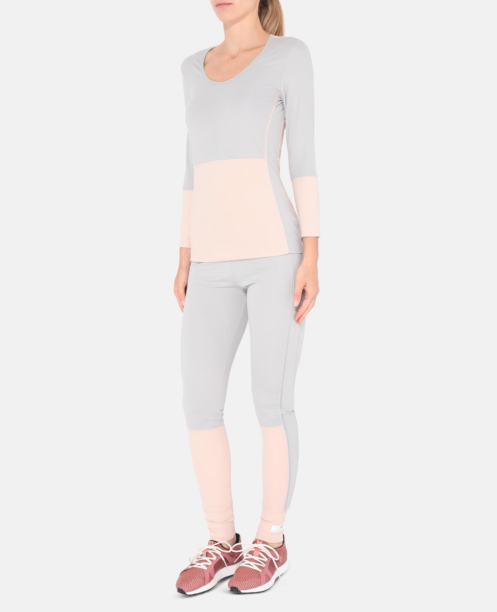 Lyst Adidas By Stella Mccartney Pink Yoga Comfort Tights In Gray