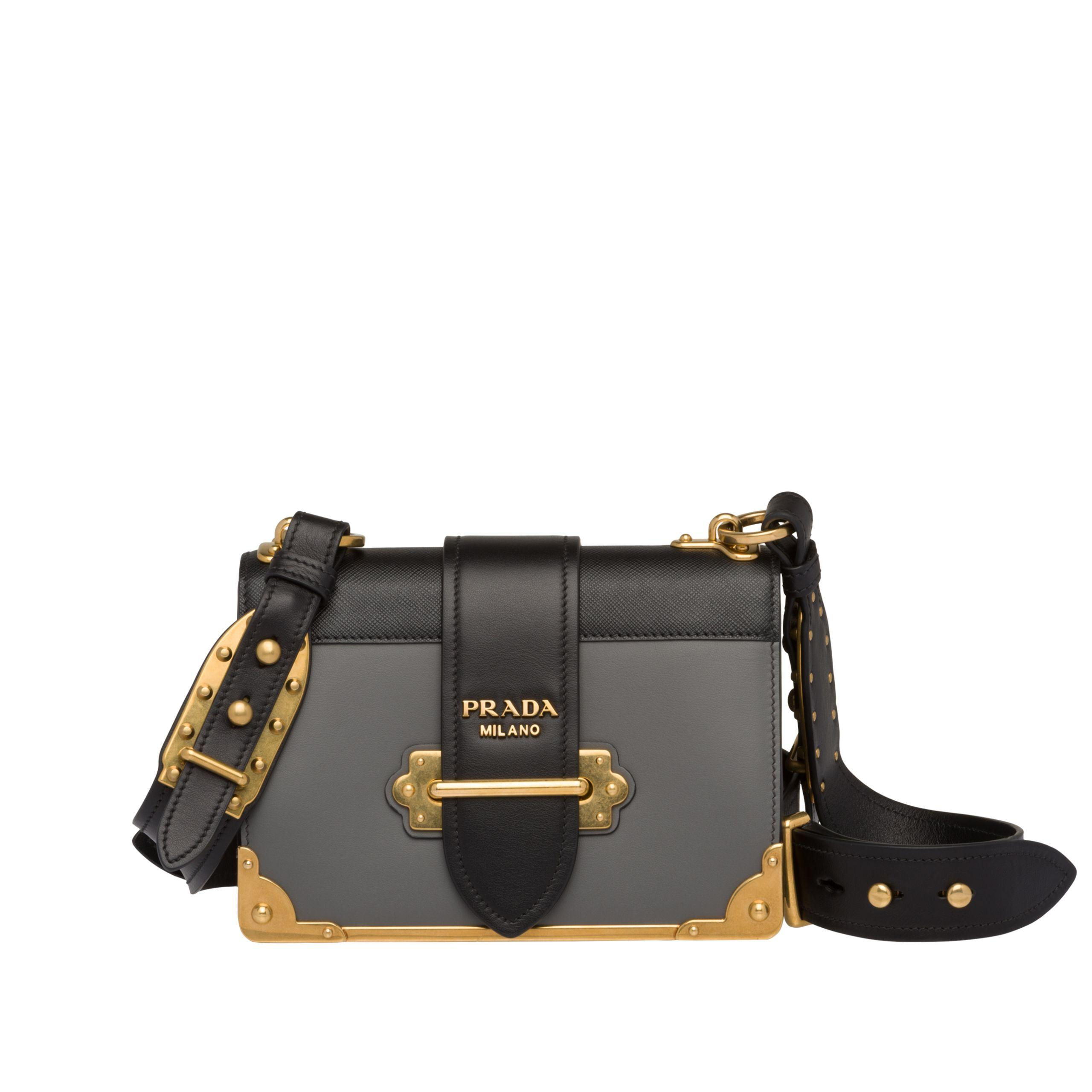 d37136a4674c64 Prada. Women's Black Cahier Leather Shoulder Bag. $2,950 From Orchard Mile