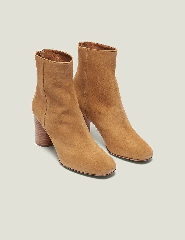 ecf01af947d62 Sandro Split Leather Ankle Boots in Brown - Lyst
