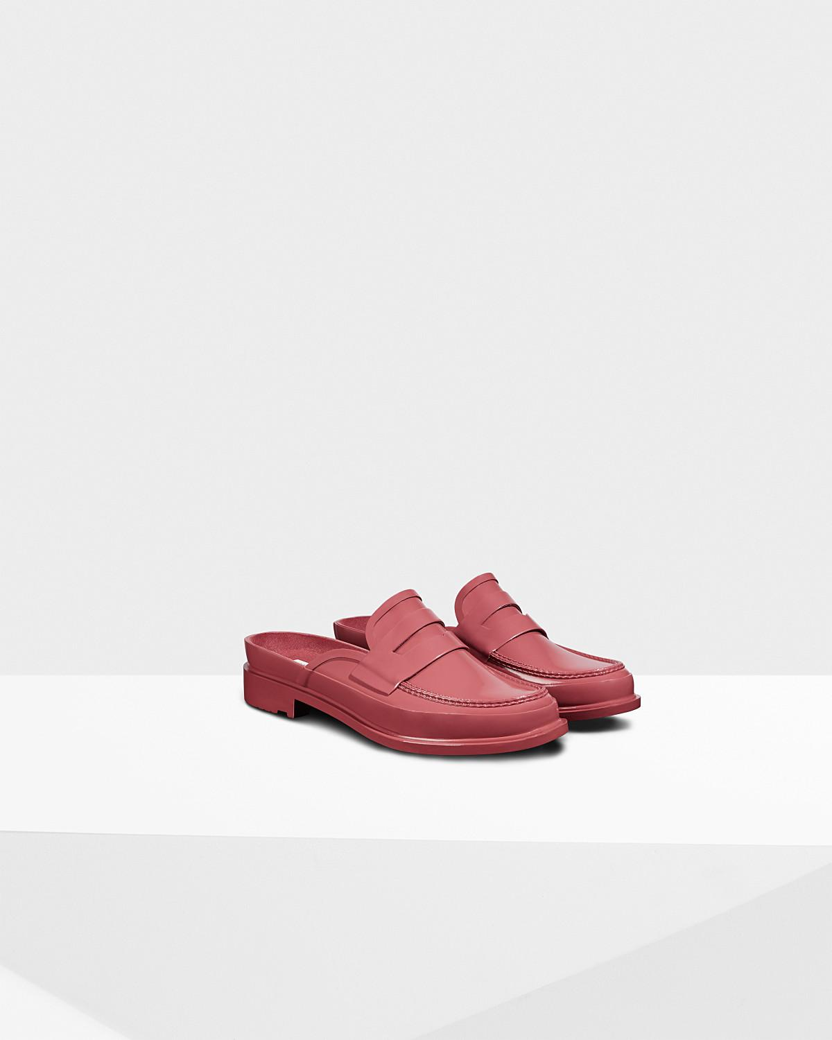 4e10f54bb75 Lyst - HUNTER Women s Refined Open Back Penny Loafer in Red - Save 31%