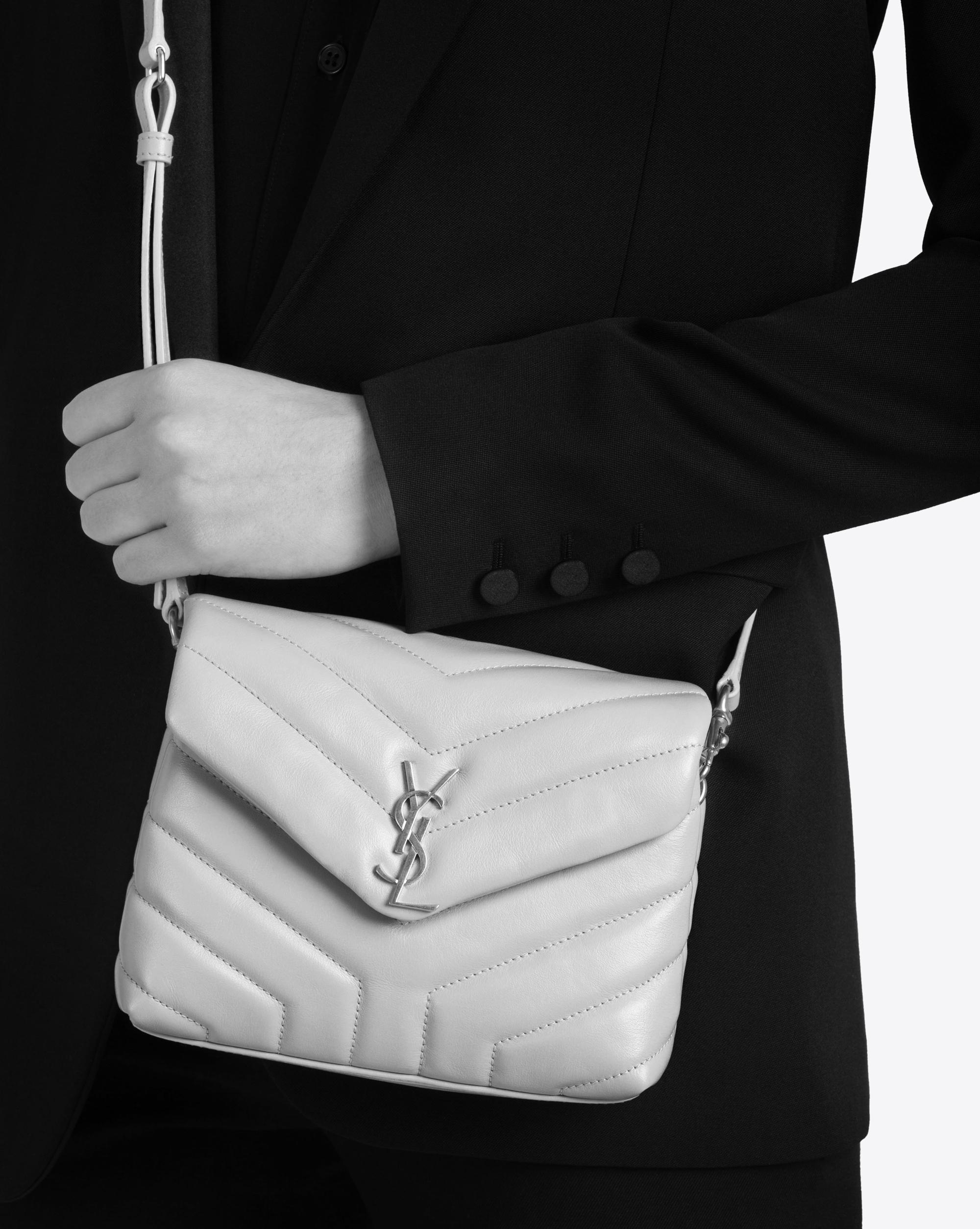 Lyst - Saint Laurent Grey Toy Loulou Bag in Gray 9be092440e752