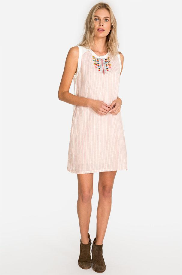 a4796898ded Lyst - Johnny Was Barbour Linen Tunic Dress in Pink