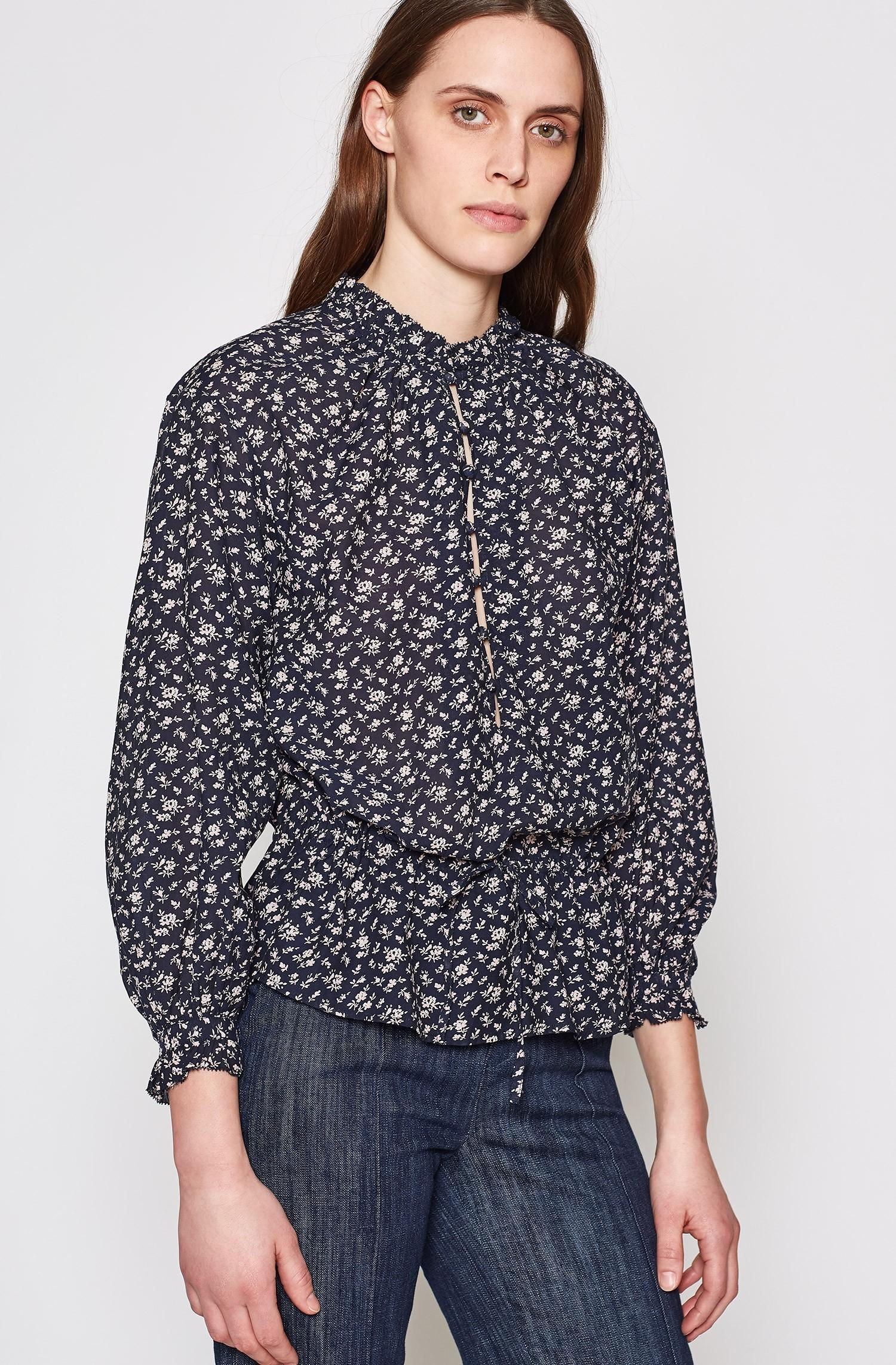 f7a5e963aa0389 Lyst - Joie Senaya Floral Top in Blue