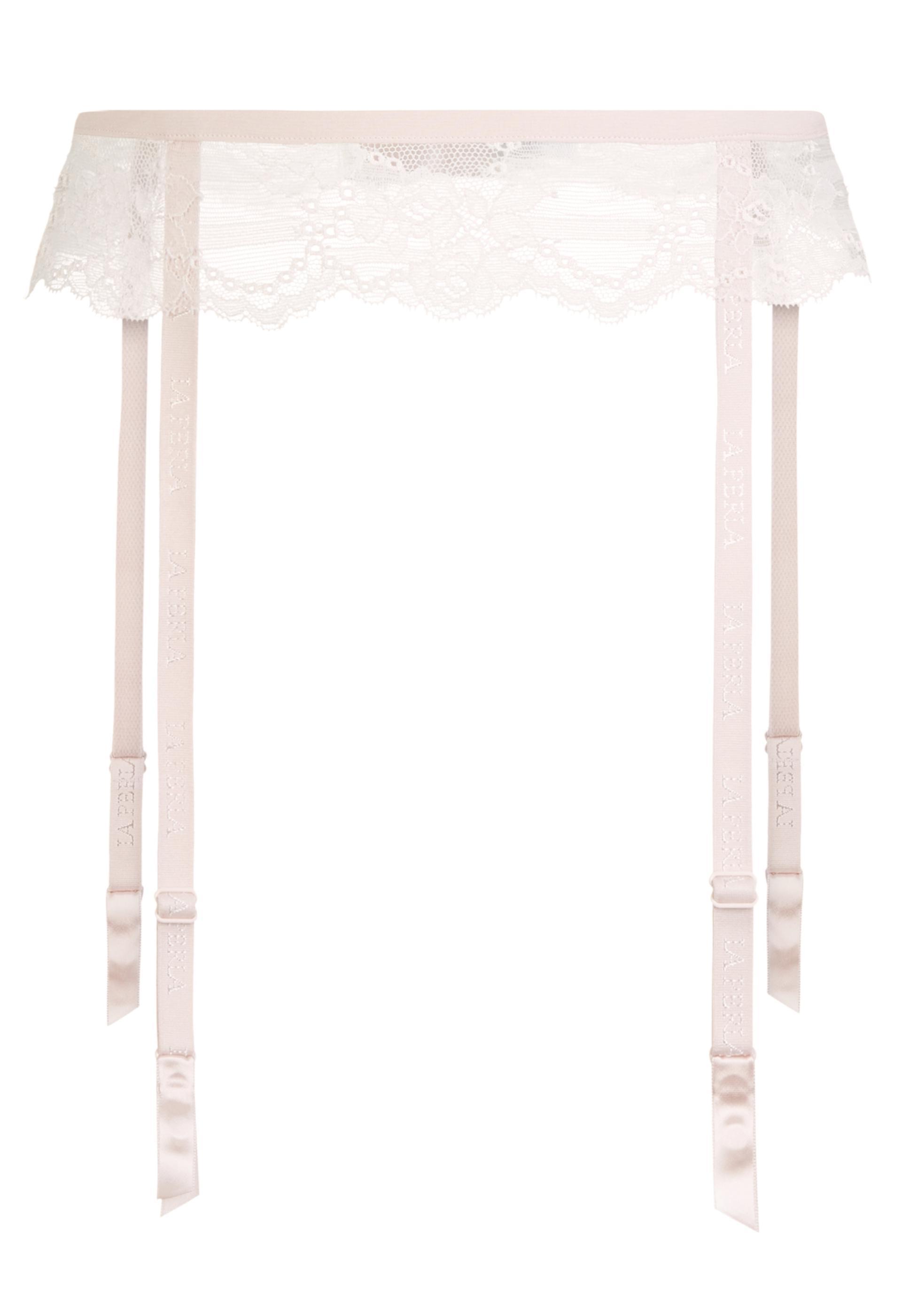 679180db62c Lyst - La Perla Tuberose Blush Pink Leavers Lace Suspender Belt in Pink