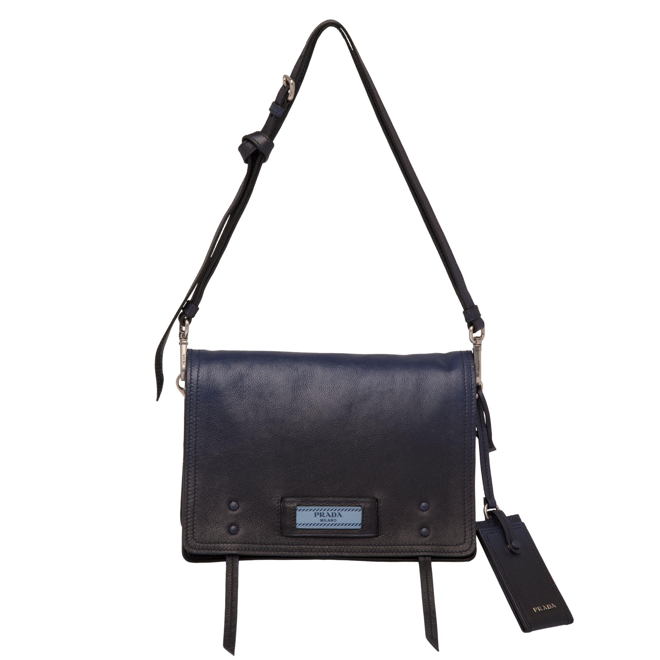 3f3d966b93aa Prada - Blue Etiquette Leather Bag - Lyst. View fullscreen