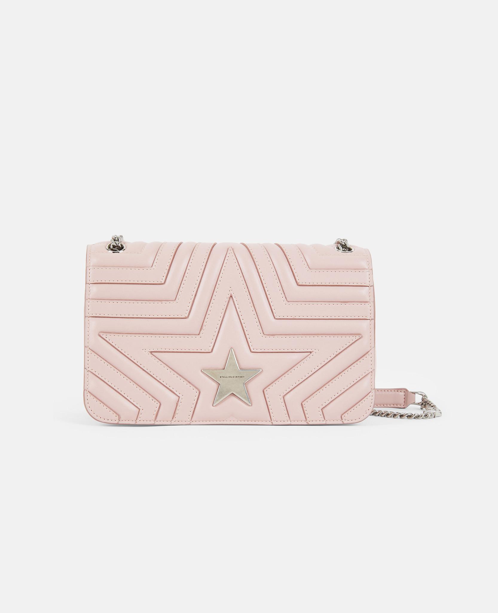 Lyst - Stella McCartney Stella Star Flap-over Shoulder Bag in Pink 893717dc7391a