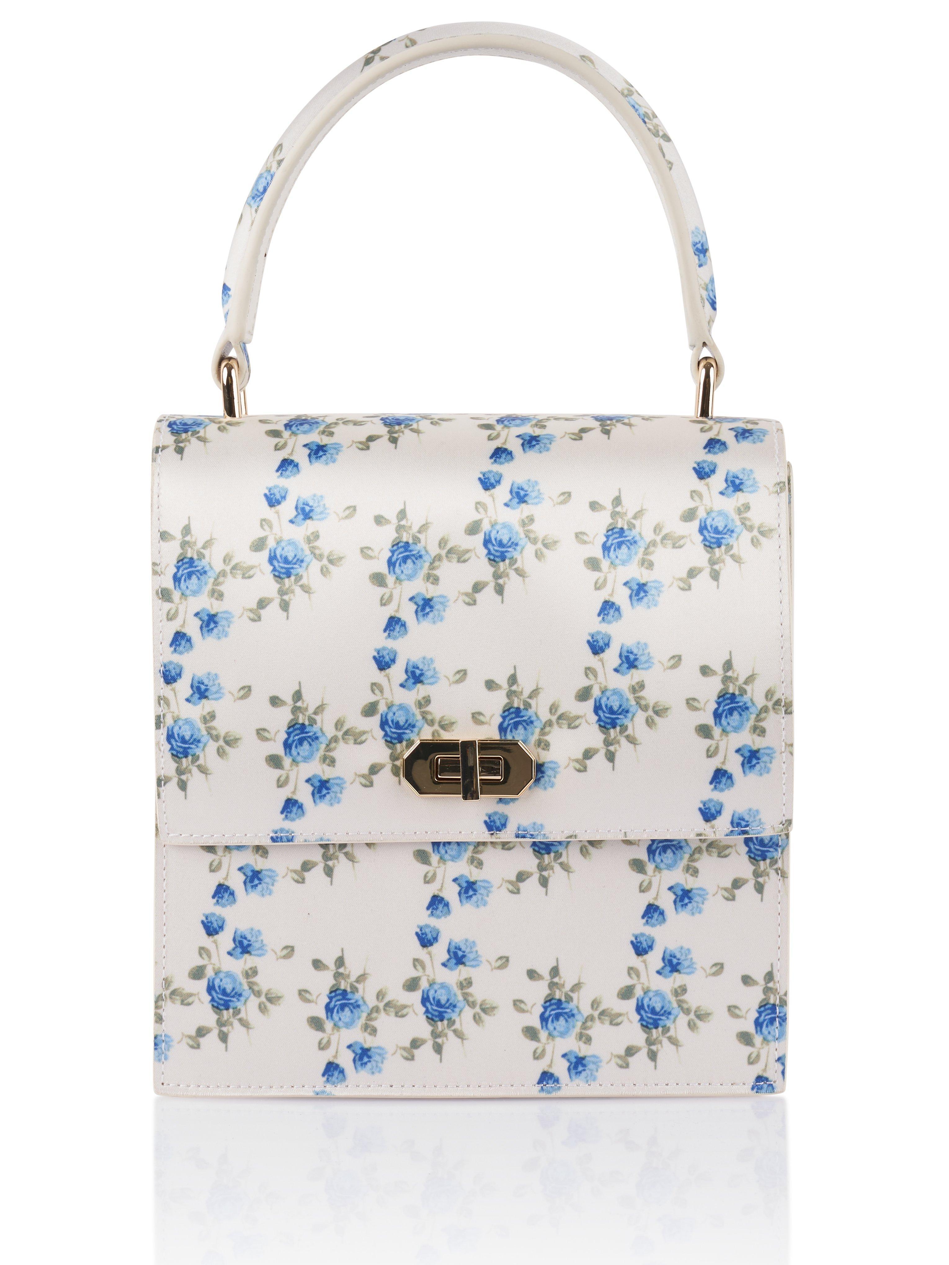 9d0277a4f NEELY & CHLOE Mini Satin Lady Bag in Blue - Lyst