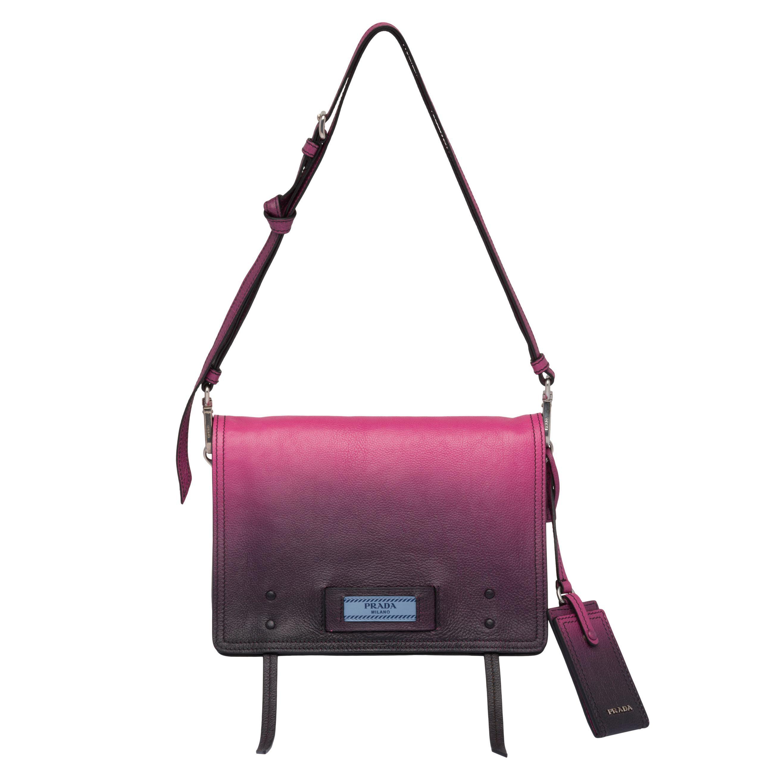 9e1d3de18e33 Prada - Purple Etiquette Leather Bag - Lyst. View fullscreen