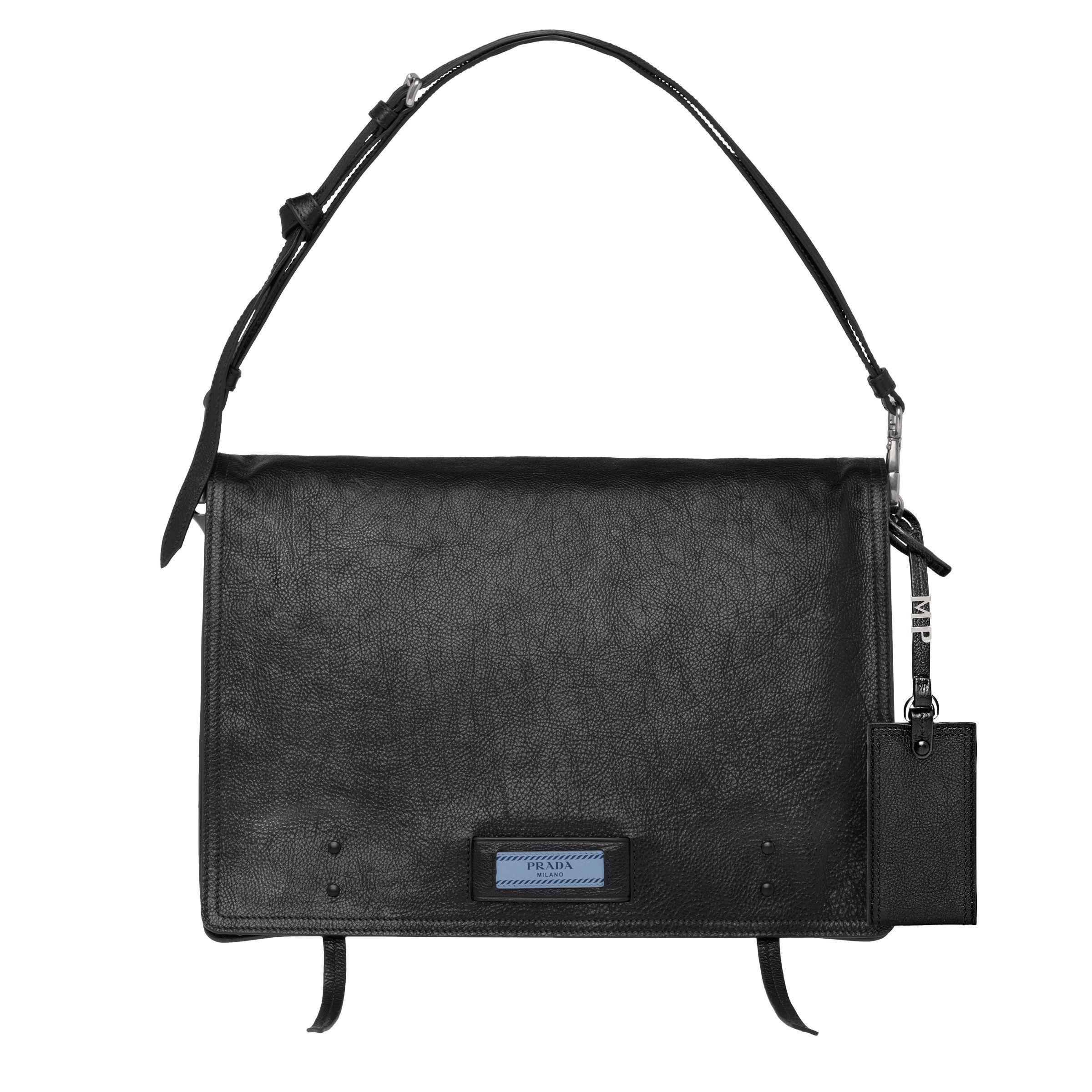 8b96d0c6d290 Prada - Black Etiquette Leather Shoulder Bag - Lyst. View fullscreen