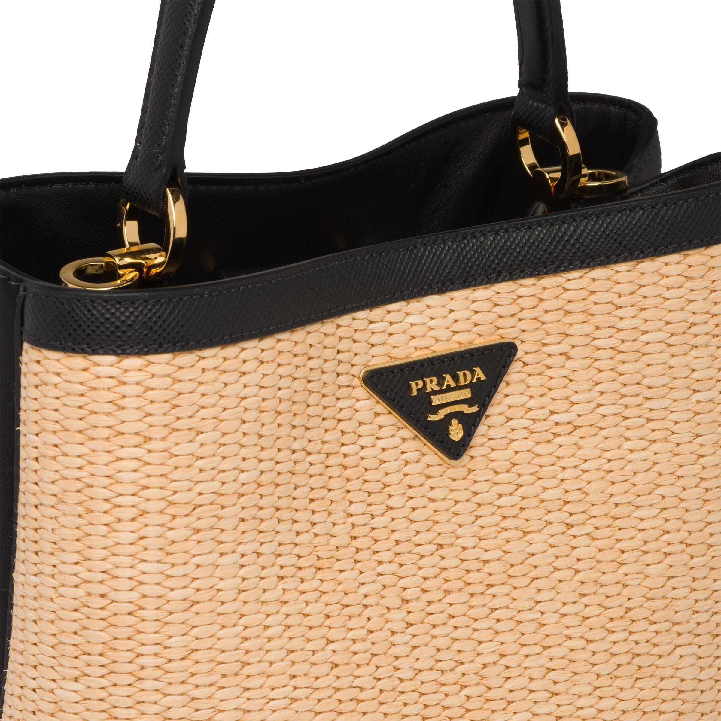 a0c7922ba6ee Prada - Multicolor Panier Medium Straw Bag - Lyst. View fullscreen