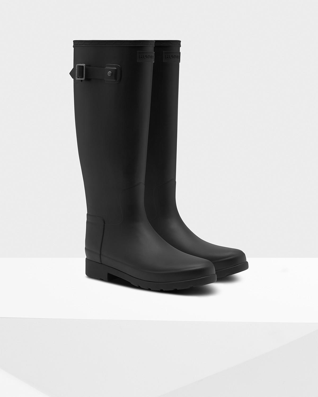 c30aba9be46 Lyst - HUNTER Women's Original Refined Tall Rain Boots in Black