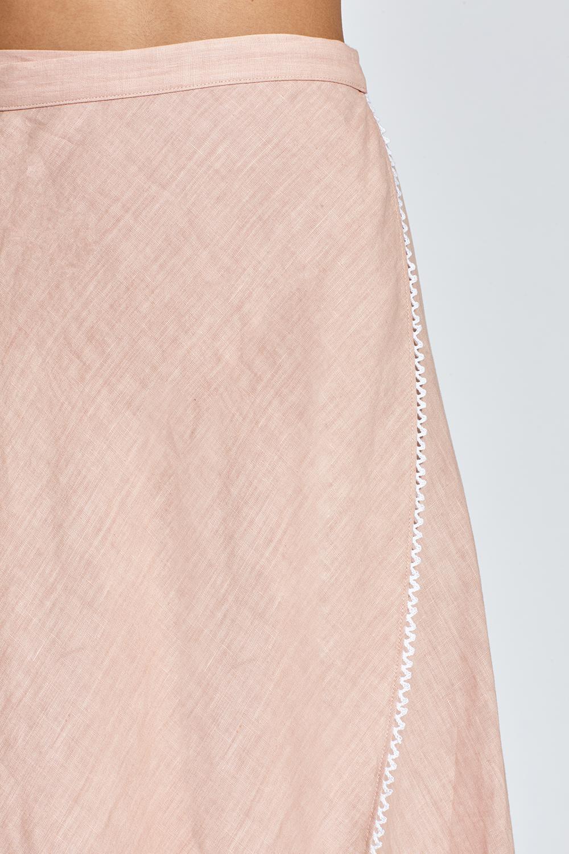 cf81474572a Miguelina - Pink Ballerina Linen Wrap Skirt - Rosewater - Lyst. View  fullscreen