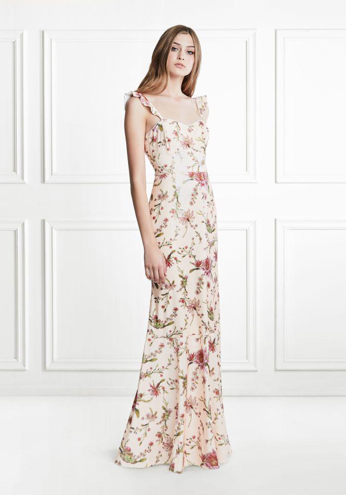 85110410295 Lyst - Rachel Zoe Leola Cactus Flower Sequin Gown