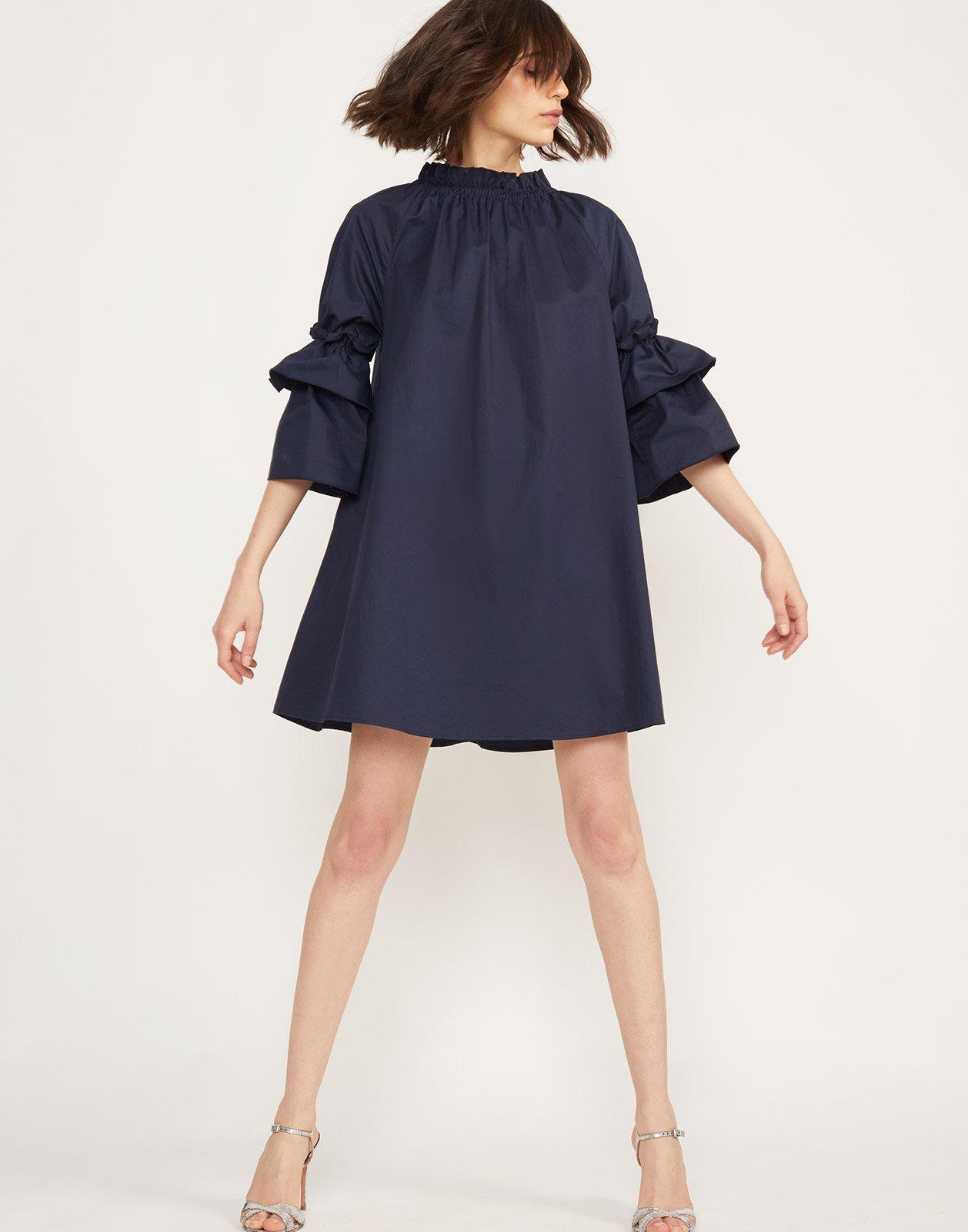 43f773bbc444 Cynthia Rowley Eden Smocked Ruffle Neck Mini Dress in Blue - Save 10% - Lyst