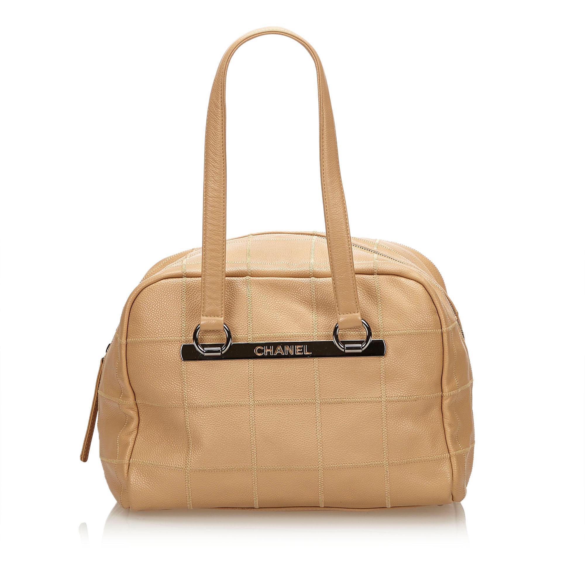 Chanel - Brown Choco Bar Caviar Leather Shoulder Bag - Lyst. View fullscreen 6aac182636682