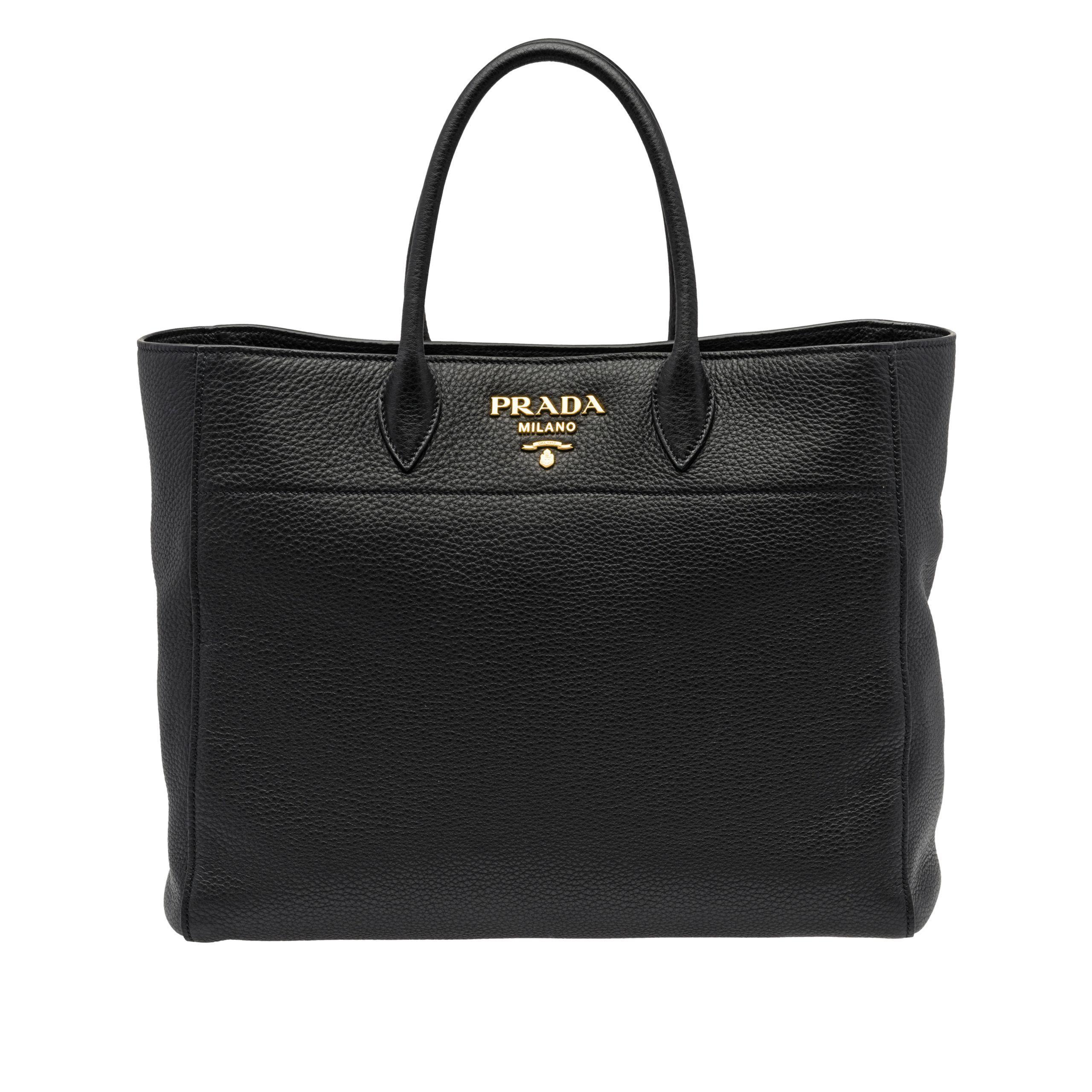 Prada - Black Leather Tote Bag - Lyst. View fullscreen 84c201ad1cf6