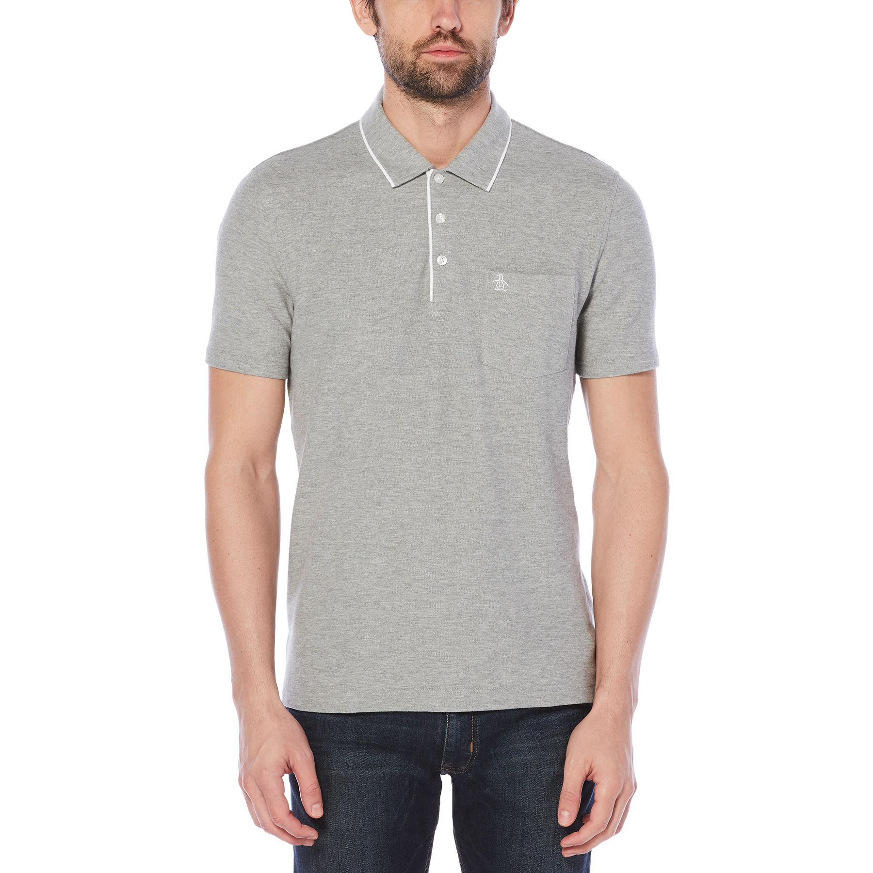 Lyst - Original Penguin Contrast Trim Basic Polo in Gray for Men b881509d28ca2