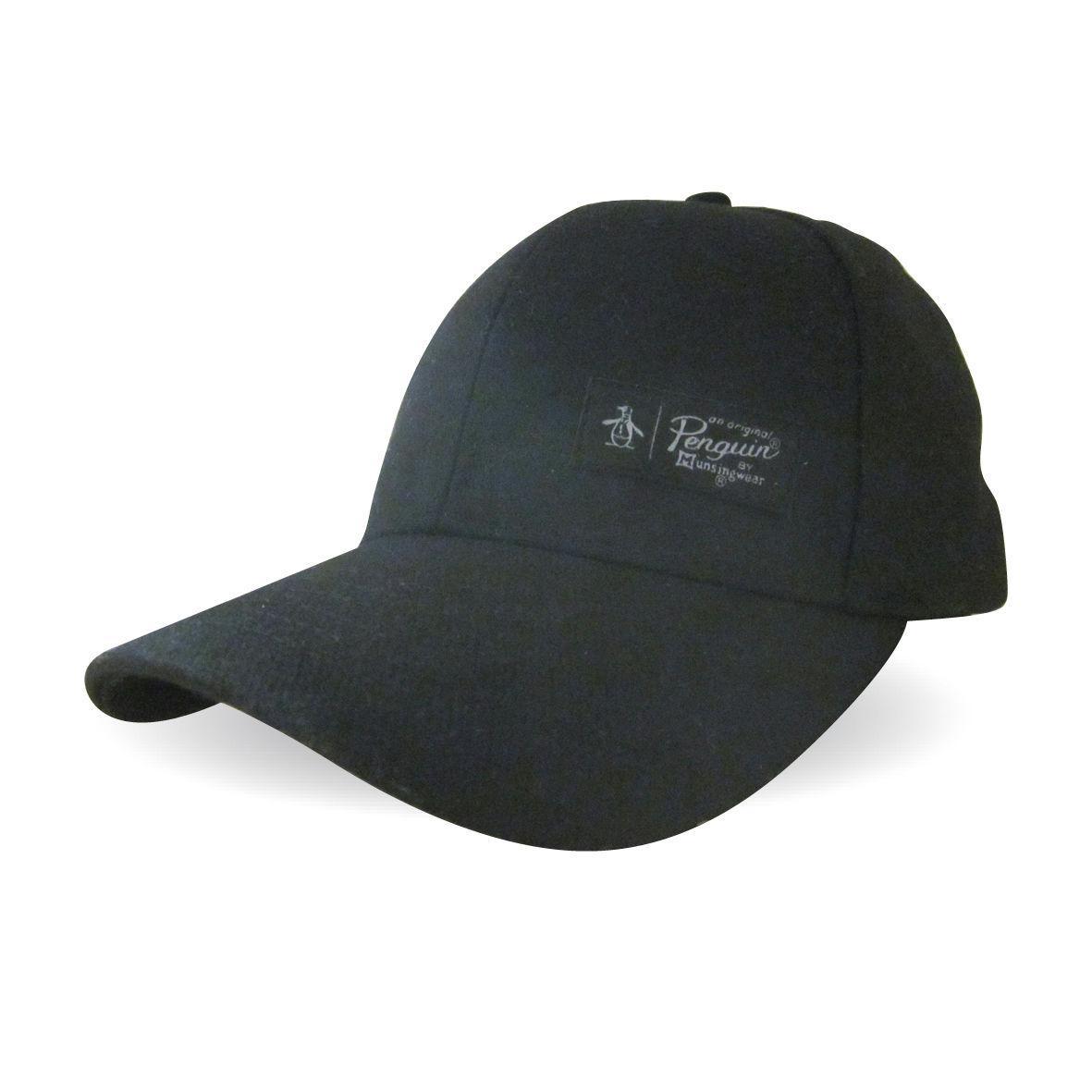 Original Penguin Melton Wool Cap in Black for Men - Lyst 0eb3f6d83f81