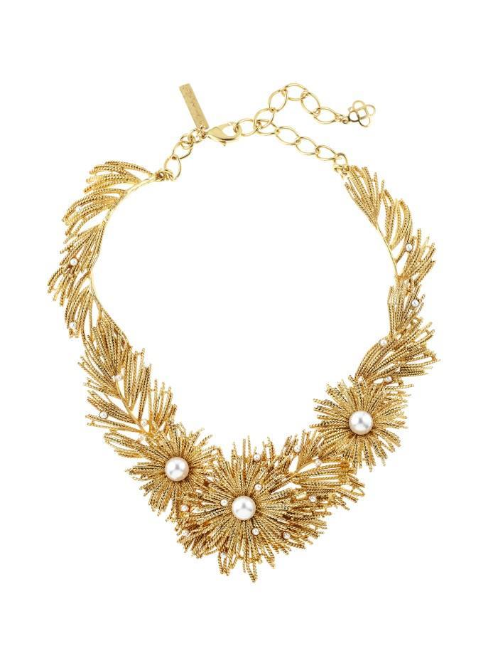 Oscar De La Renta Golden Pearl Critters Necklace 4iQj75EYj