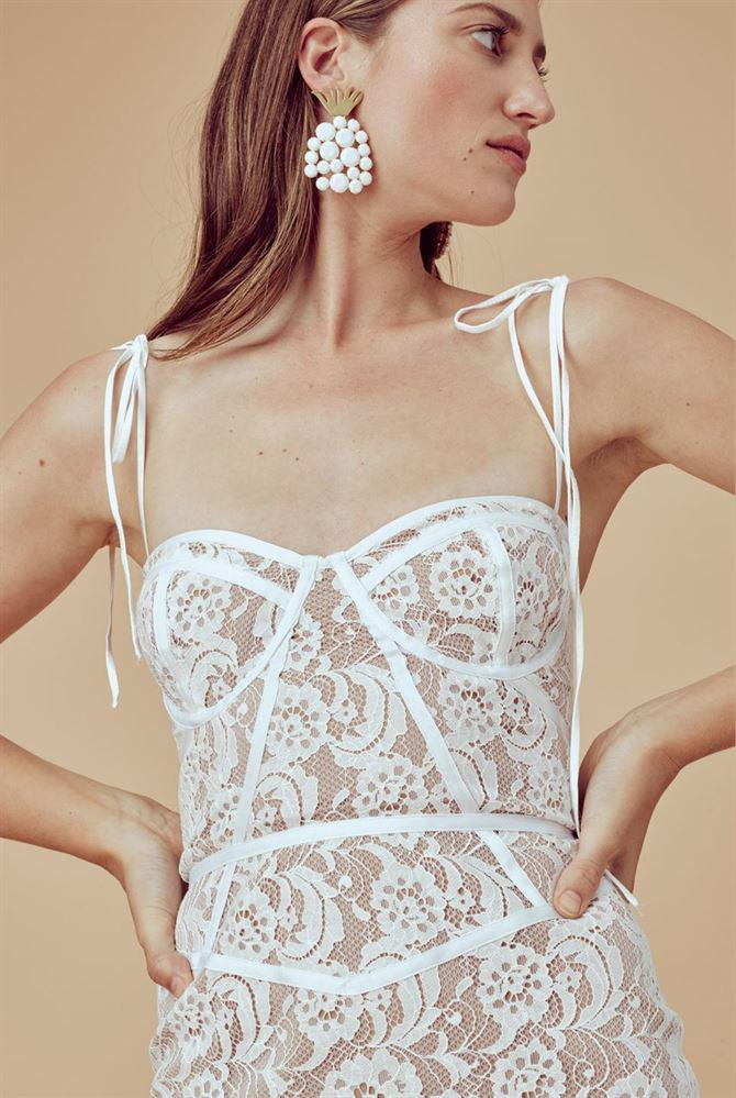 be947aff72e0 Gallery. Previously sold at: Oxygen Boutique · Women's White Lace Dresses