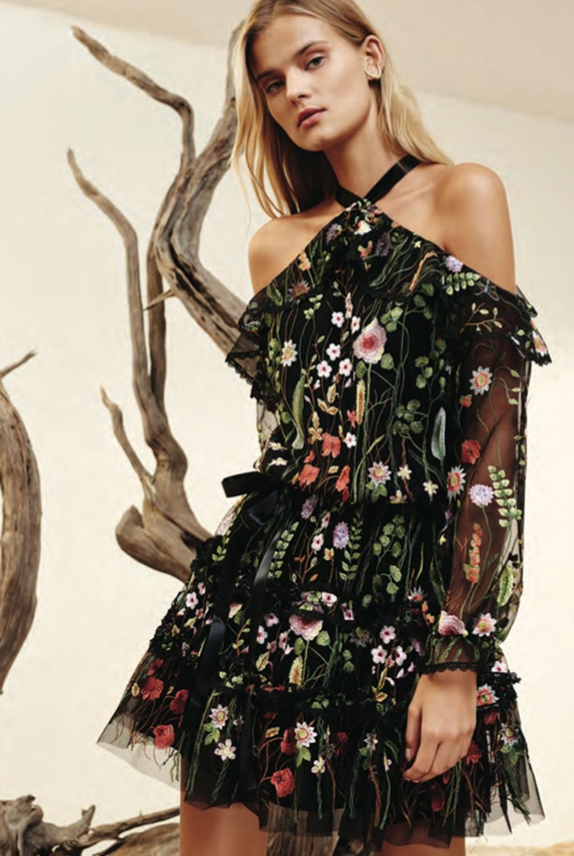 Lyst Alexis Adeline Dress Black Garden In Black