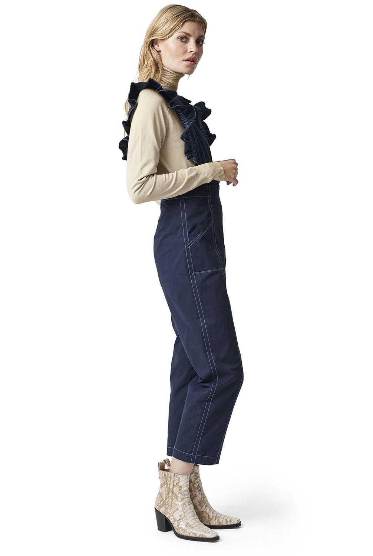 9614786df25 Ganni Phillips Cotton Jumpsuit in Blue - Lyst