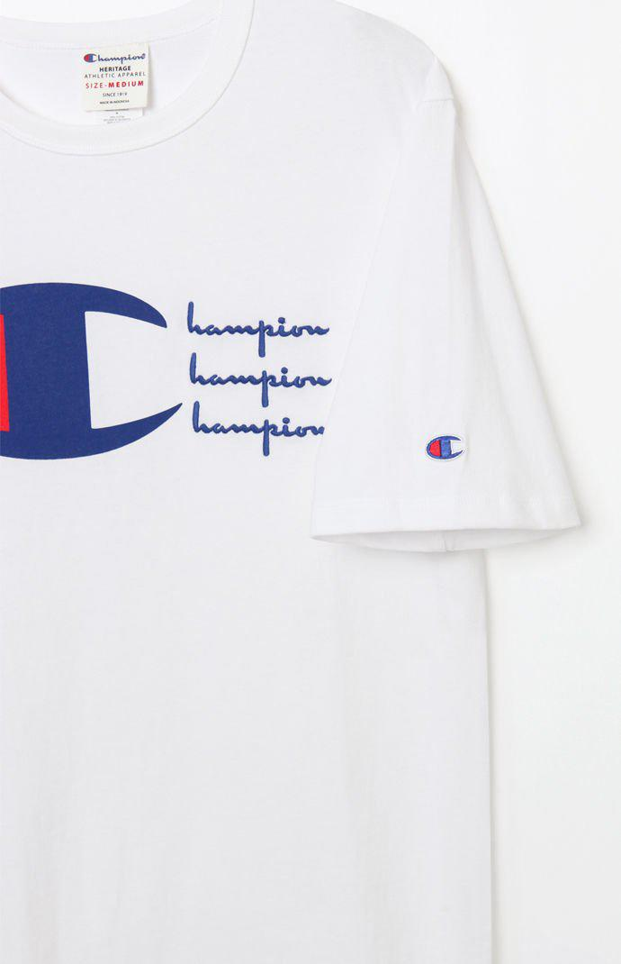 8f201dd0cbd6 Lyst - Champion Script Heritage Embroidered T-shirt in White for Men