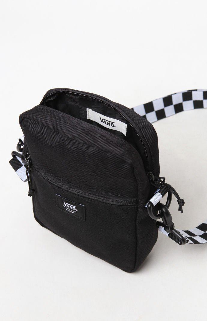 5ff95205284 Vans - Black Checker Crossbody Bag for Men - Lyst. View fullscreen