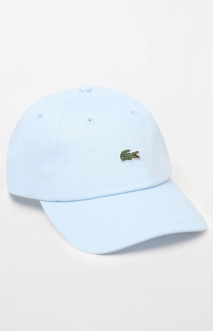 Lyst - Lacoste Small Croc Strapback Dad Hat in Blue for Men 6def8c8d9373