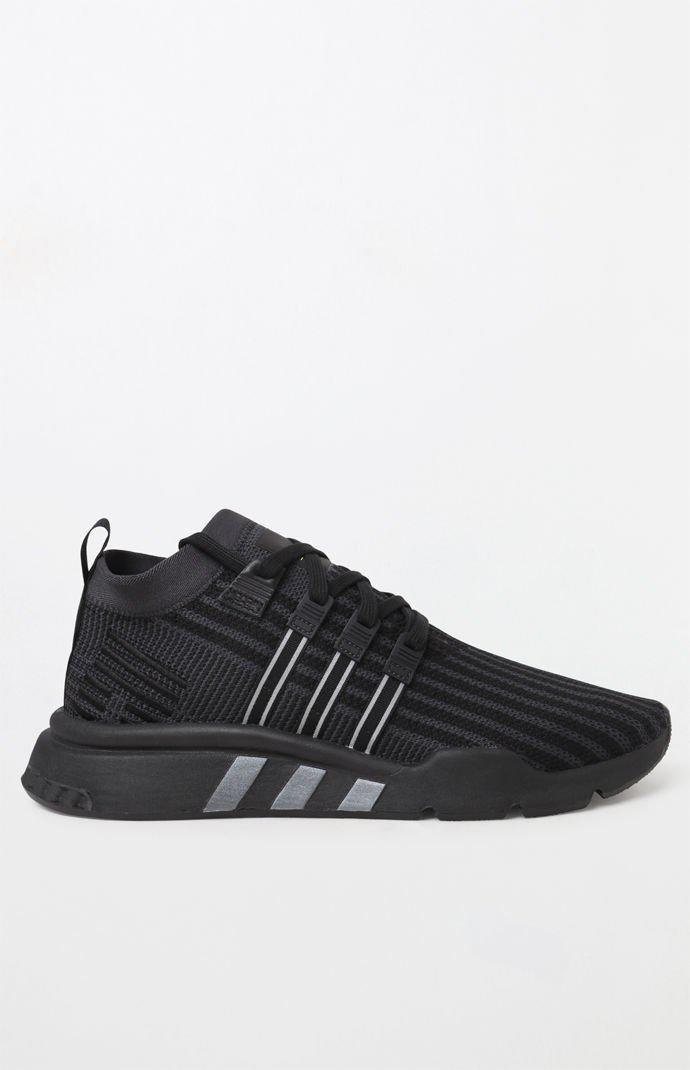 hot sales 68fda d1a0a Adidas - Eqt Support Mid Adv Primeknit Black Shoes for Men - Lyst. View  fullscreen