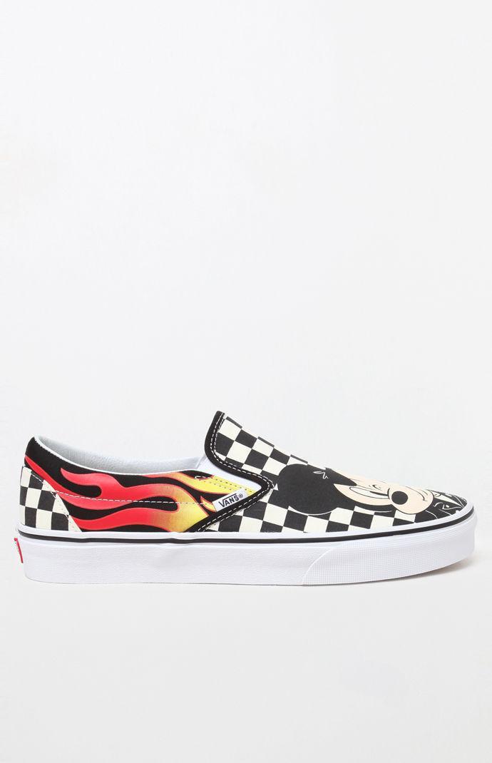 d805b3b0512630 Lyst - Vans X Disney Mickey   Minnie Checker Flame Slip-on Shoes for Men