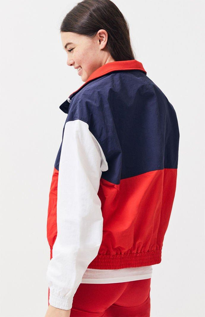 66c51568f0f Lyst - Tommy Hilfiger Colorblock Zip Track Jacket in Red