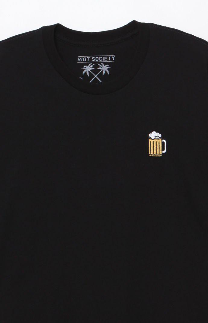 61e759542228cf Lyst - Riot Society Beer Embroidery T-shirt in Black for Men - Save 32%