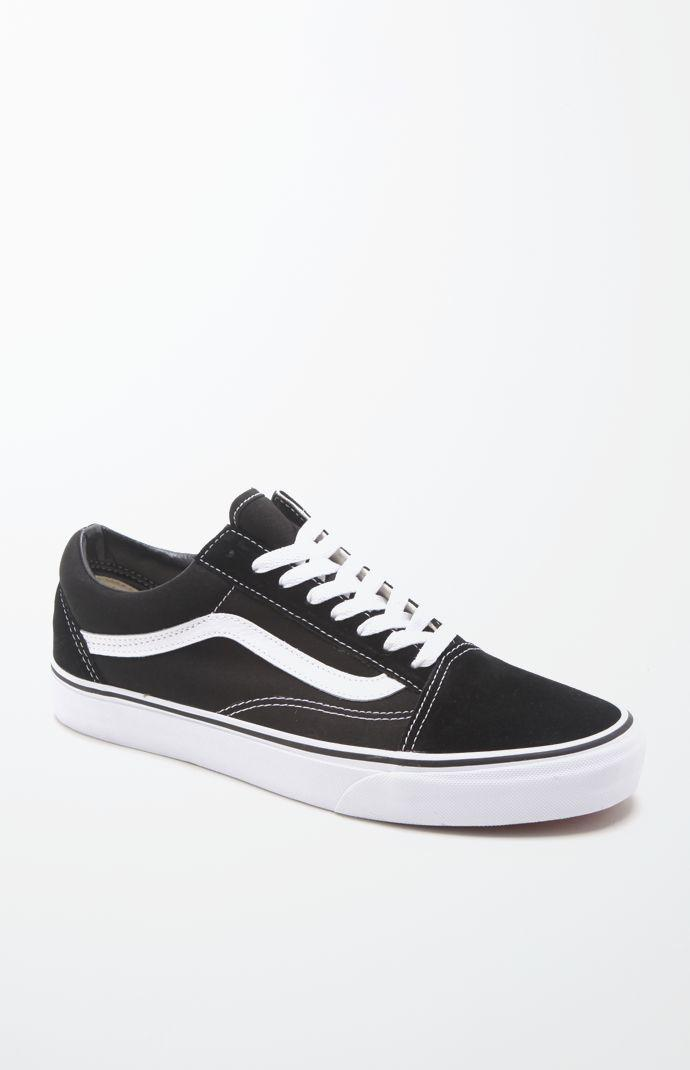 672a668ce0 Lyst - Vans Canvas Old Skool Black   White Shoes in Black for Men