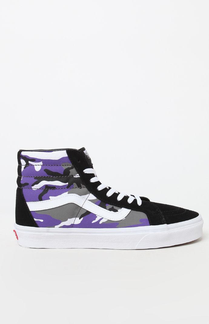 2e989f2681 Lyst - Vans Pop Camo Sk8-hi Reissue Shoes in Purple for Men - Save 9%