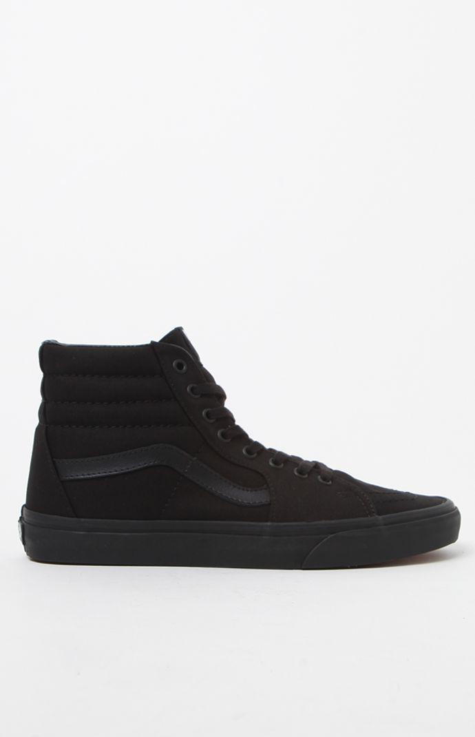 24449b68cc Lyst - Vans Sk8-hi Black Canvas Shoes in Black for Men