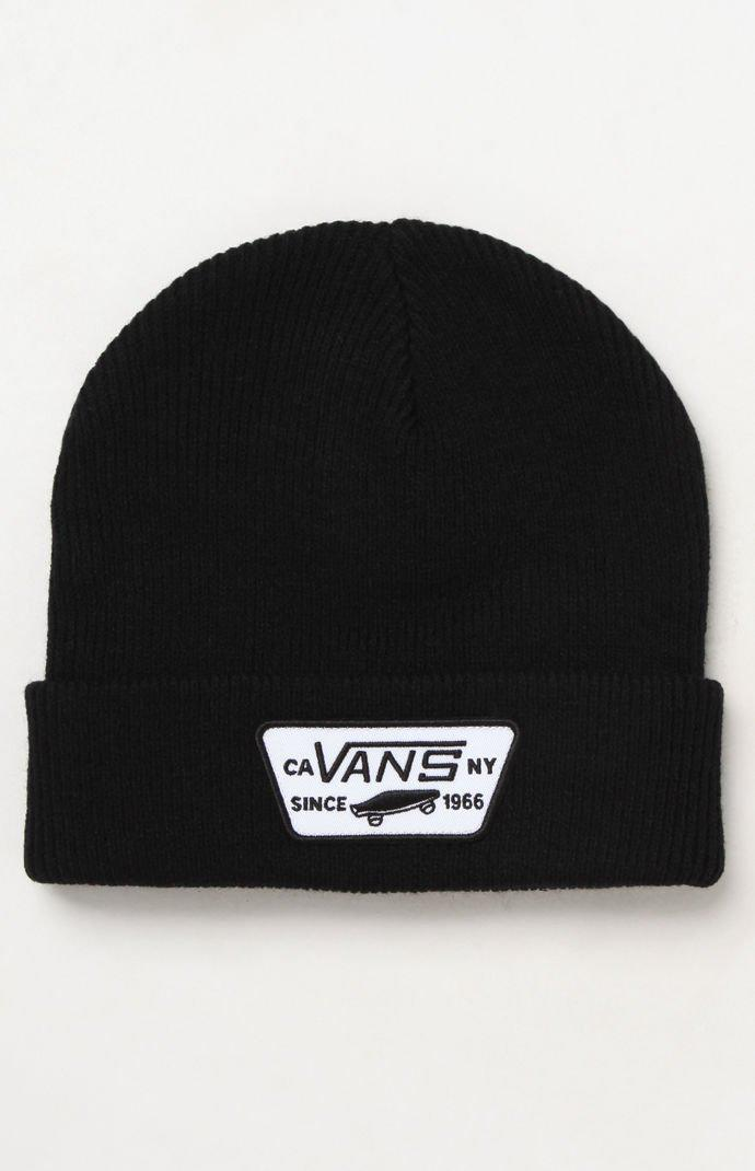 1b13435ede5 Lyst - Vans Milford Cuff Beanie in Black for Men