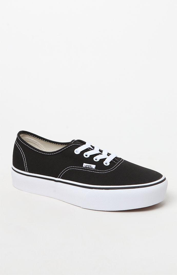 Lyst - Vans Women s Authentic Platform 2.0 Sneakers in Black 0480b80adb