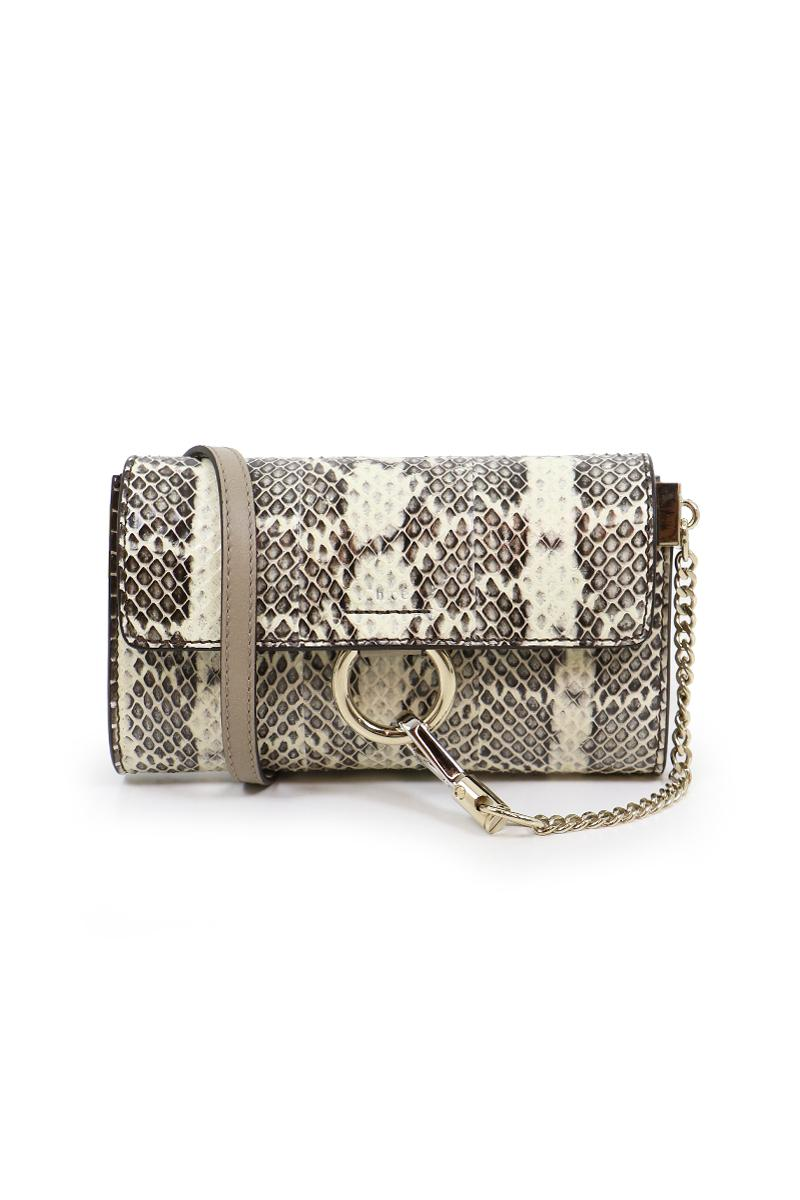 chlo faye mini bag watersnake abstract white in white lyst. Black Bedroom Furniture Sets. Home Design Ideas