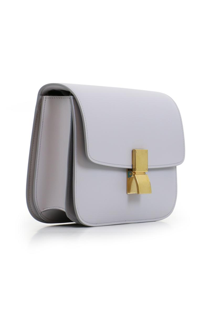 122c31f1b4a2 Lyst - Céline Classic Box Bag Light Grey in Gray